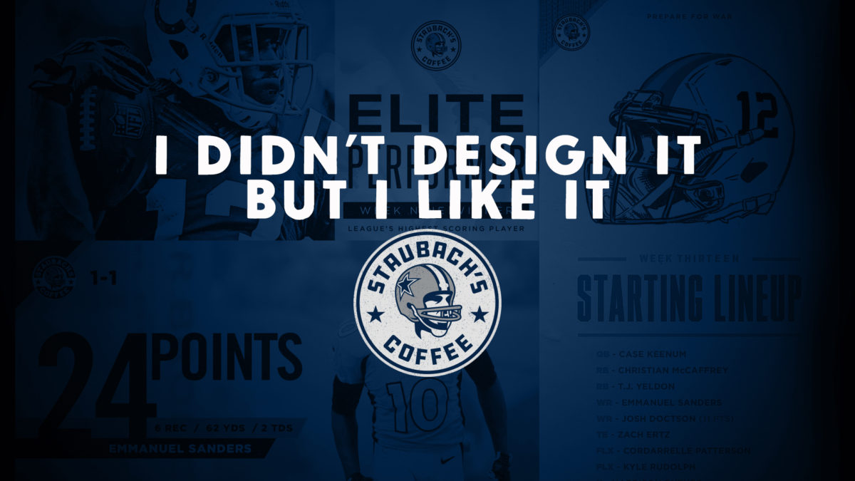 The Genius of the Staubach's Coffee logo by Brandon Moore