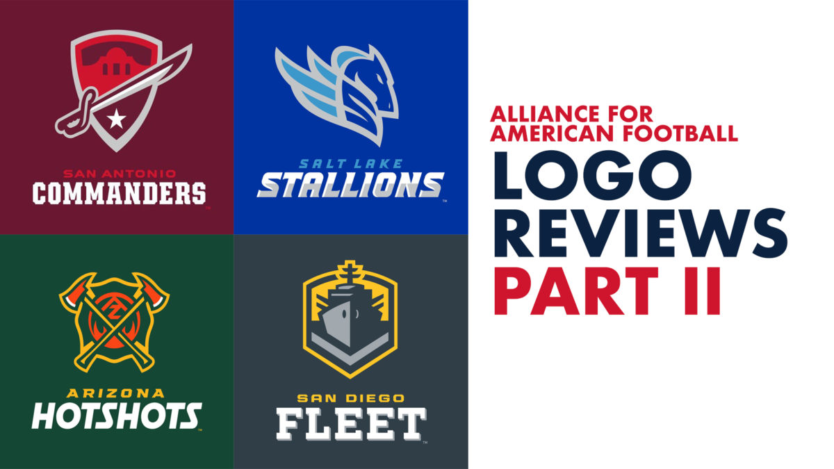 Logo Design Review | The Alliance for American Football (Part 2)
